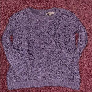 Ann Taylor LOFT Lavender Knit Sweater